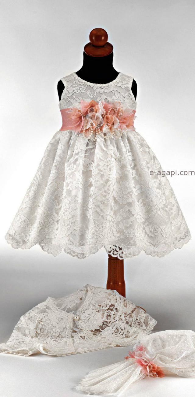 402eb4eda1da3 Baby girl baptism lace dress set Baby girl christening dress Flowergirl  white pink dress Greek baptism