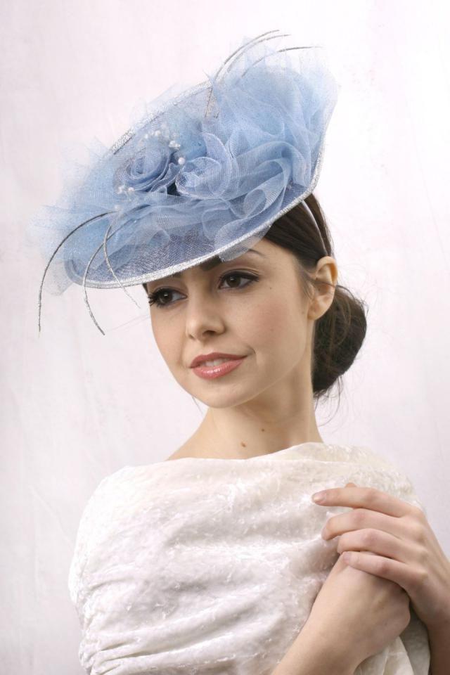 3625b7d97930f Kentucky blue fascinator, Royal Ascot Hat, Kentucky derby hat, Derby  fascinator hat,
