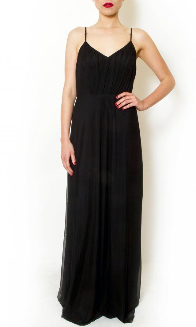 003fc4729a4 Black chiffon prom maxi chiffon dress evening gown dress sexy straps  backless dress