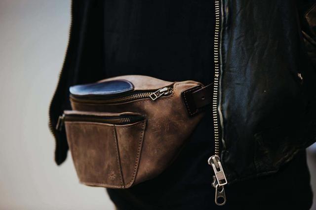 d64dd2157c5 Fanny pack by Kruk Garage Brown leather bag Hip bag Waist bag Belt bag  Festival pack