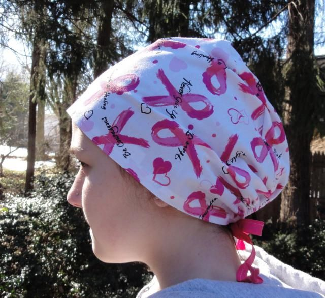 purchase cheap eb089 0bc15 Pink Ribbons Scrub Hat, Breast Cancer Scrub Hat, Wear Pink Scrubs, One Size.   adjustable scrub cap ...