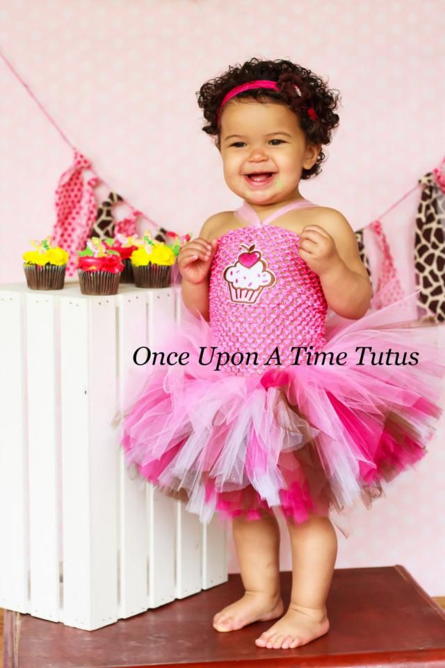 41010dcb2e3 Sweet Cupcake Birthday Tutu Dress - Girls Size Newborn 3 6 9 12 18 Months 2T