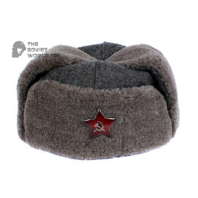 ee5b7501db43f GENUINE Vintage WWII Soviet ushanka RKKA winter russian warm military hat