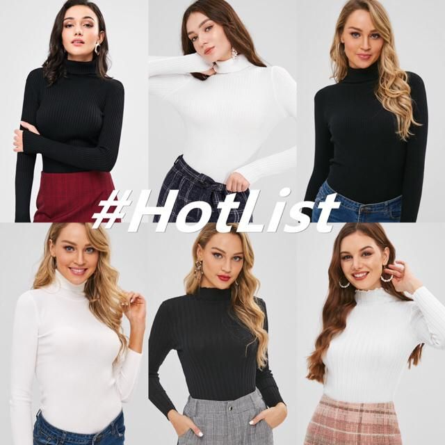 Black and white tight sweater are basic items for every girl's closet. These two must-have items are the easiest matchi…