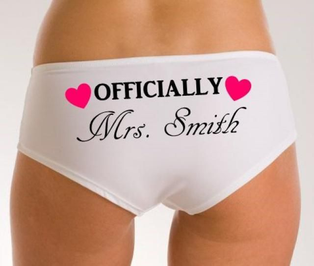 fac7ea0ba4f Personalized Women amp  s Underwear Knickers Panties  amp quot Officially  Mrs Named amp