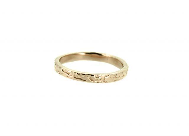 c20f4ffbc320ad rose gold wedding ring . engraved wedding band . 14k solid gold heirloom  wedding ring .