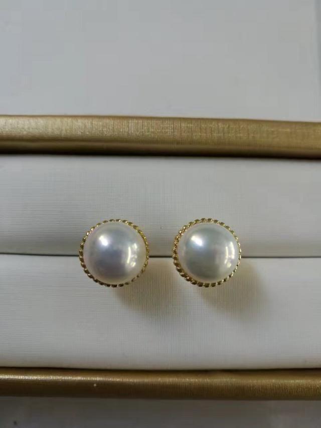 c5b876c45 White genuine freshwater real pearl earring stud,Diamond Stud Sterling  Silver pearl stud earring,