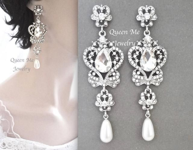 86bb2a5e29bbc 2019 Best Long Crystal Chandelier Earrings Images And Outfits | Z-Me ...