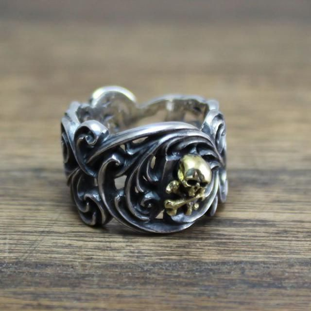 Mexican Style Biker Indian Handmade Sterling Silver 925 /& Brass Ring by Ezi Zino