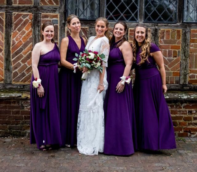 a1e7006887 Bridesmaid dress Infinity dress wedding dress multiway dresses Infinity  bridesmaid stretch lycra purple maxi dress FREE