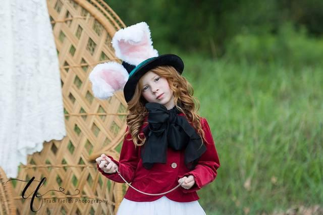 Rabbit Top Hat, March Hare Wired Furry Ears, Alice In Wonderland, Animal  Festival