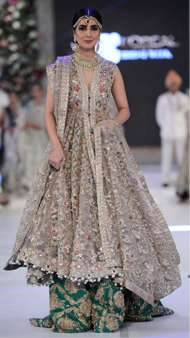 Silver details in Pakistani dresses tho