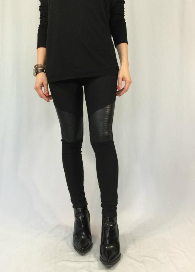 6f8f80ea92c89 Women Black Leggings / Long Faux Leather Stretch Leggings / Skinny Leather  Pants / EXPRESS SHIPPING