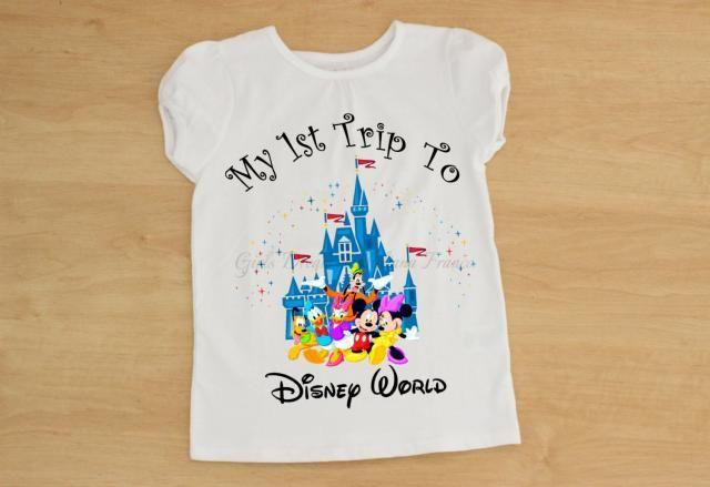 63a71ba0a My First Disney Trip Sirt, Disney World Shirt, Minnie Shirt, Mickey Mouse  Shirt