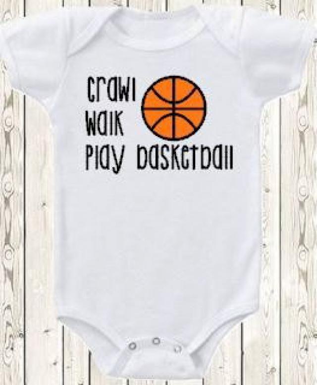 f9f2e77f3289 Basketball ONESIE ® brand bodysuit or shirt   crawl walk play basketball    sports   new ·  baby boy ...