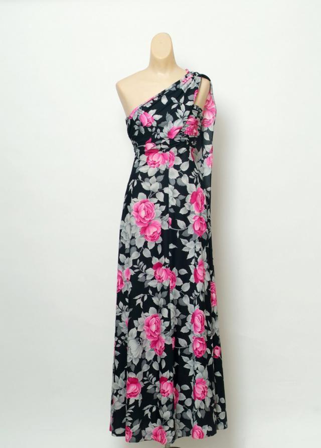 fc315cf6dd Vintage 70s dress   Party Dress   Maxi Dress Long   Evening Dress   Floral  Print