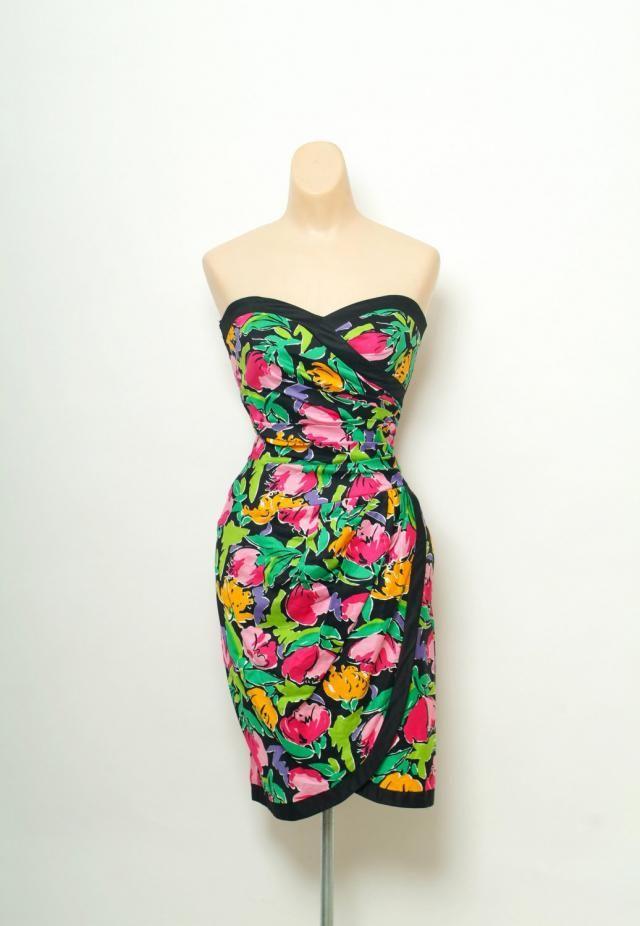 2339b0cea8fb Vintage 80s 90s Dress Party / Vintage Sundress / Cocktail Dress / Summer  Party Dress /