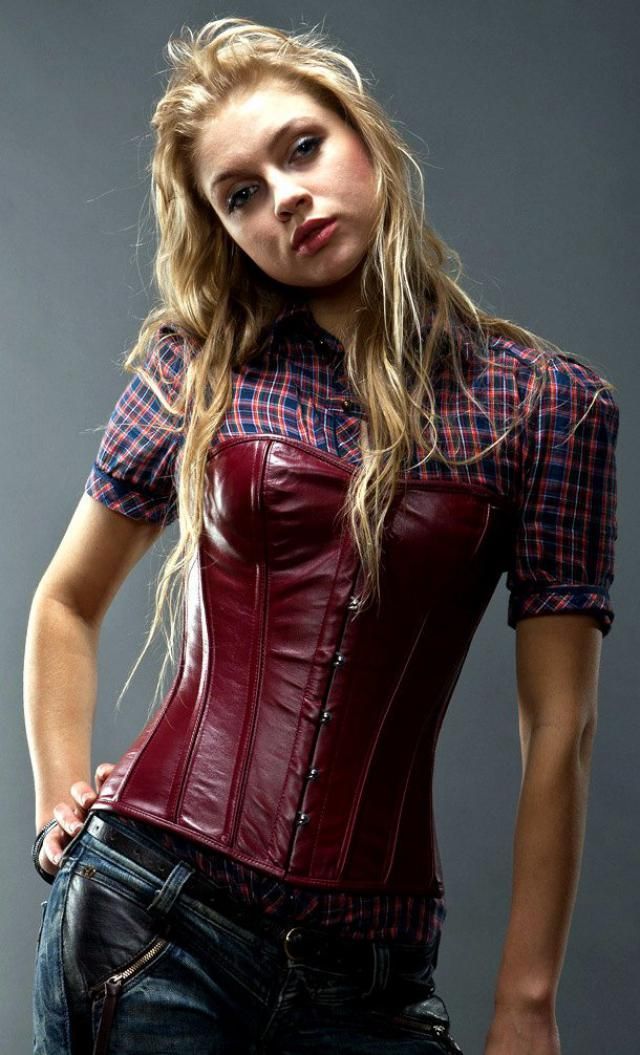 5880a9d29f Real sheep leather short overbust steel-boned authentic corset