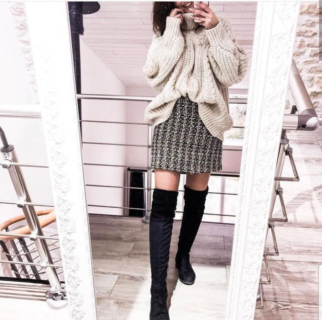 Winterish Mini Skirt