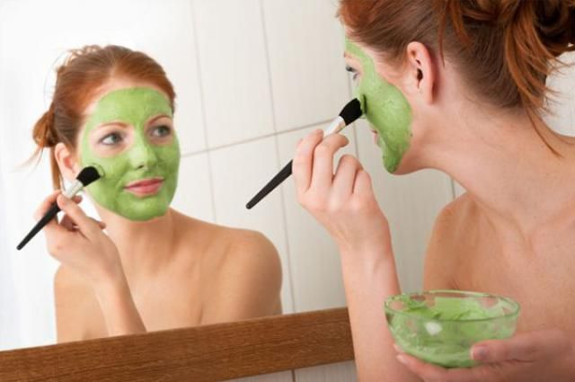 putting on green face mask....!!!