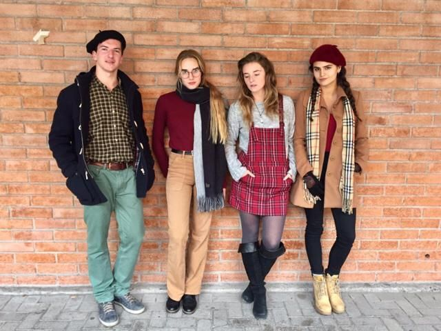 Warm and chic with my friends in college!