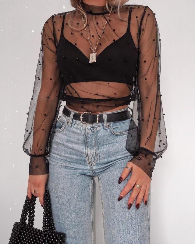 sheer mesh top | | |