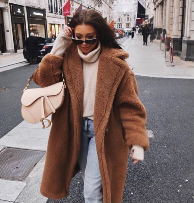 I like this trend of fur coat, it's adorable