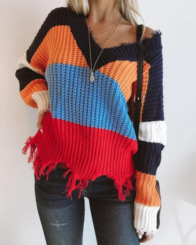 color block sweater | | |