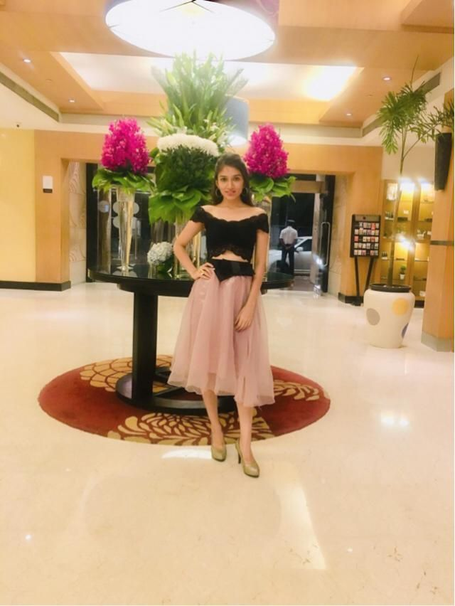 Thats My Style, Comfy and Chic.. elegant skirt with a lace crop off shoulder top with golden boot heels and round…