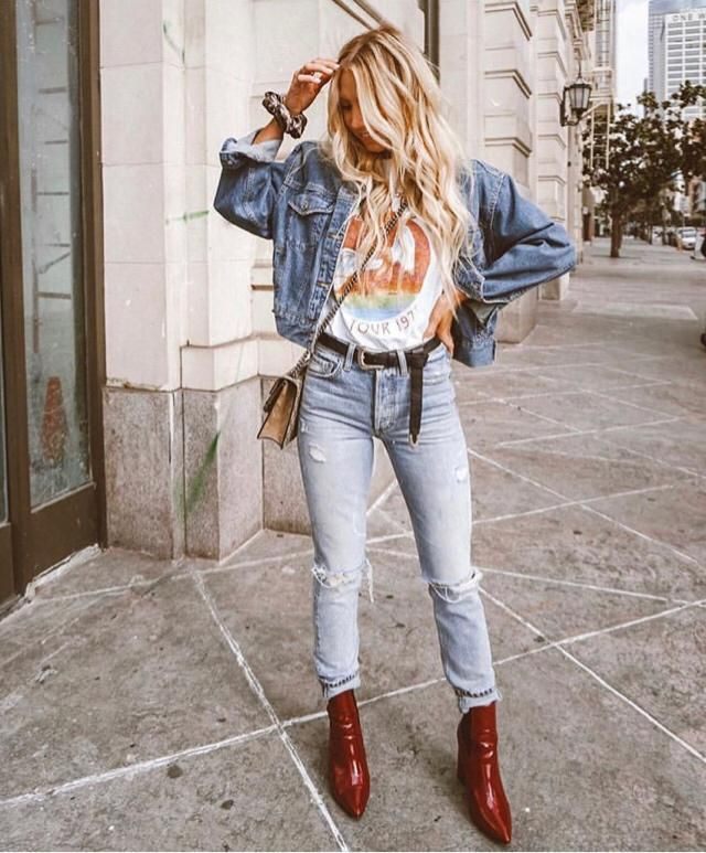 Tomboy much if you wear belt like this with denim jacket