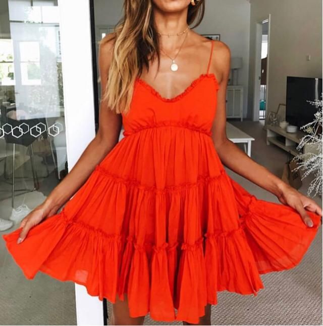 -pretty      What a cute red dress and detail to wear this for a cute date with your partner -pretty
