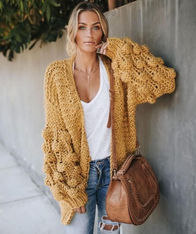 Sarch for Yellow Chunky Cardigan |  Love the outfit | | |