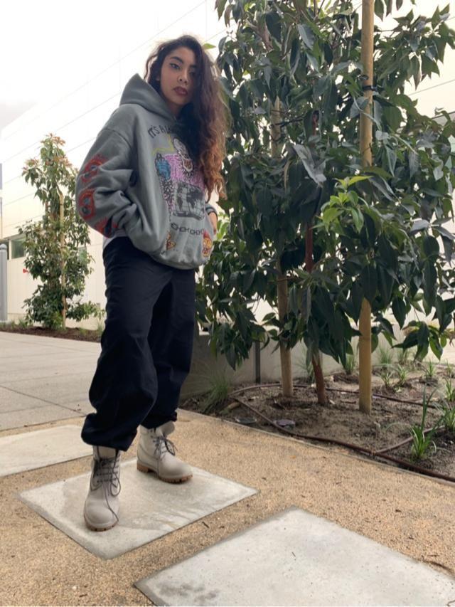Yeezy x xxxtentacion hoodie on a rainy day