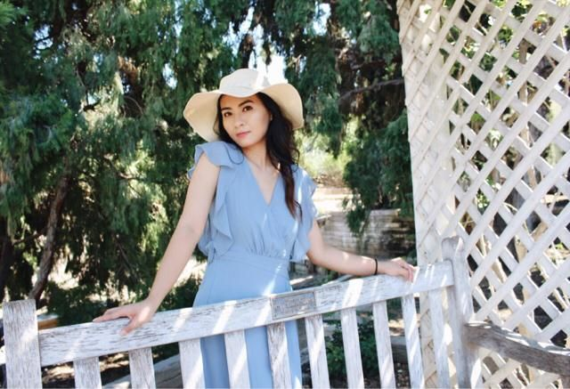 Cute and easy maxi dress for the summer time. This one has the prettiest blue. The ruffles on the sleeves makes it look…