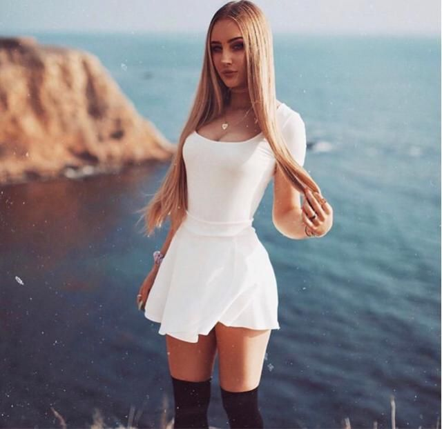 Good outfit for all Pisces, a cute great bodycon white dresss