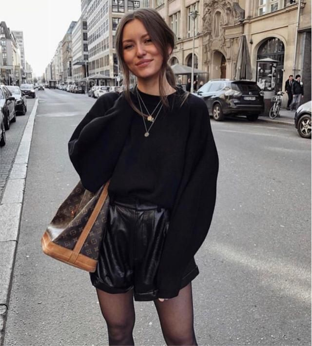 I like going out with leather outfit especially leather shorts, it's really comfortable and keep me warm