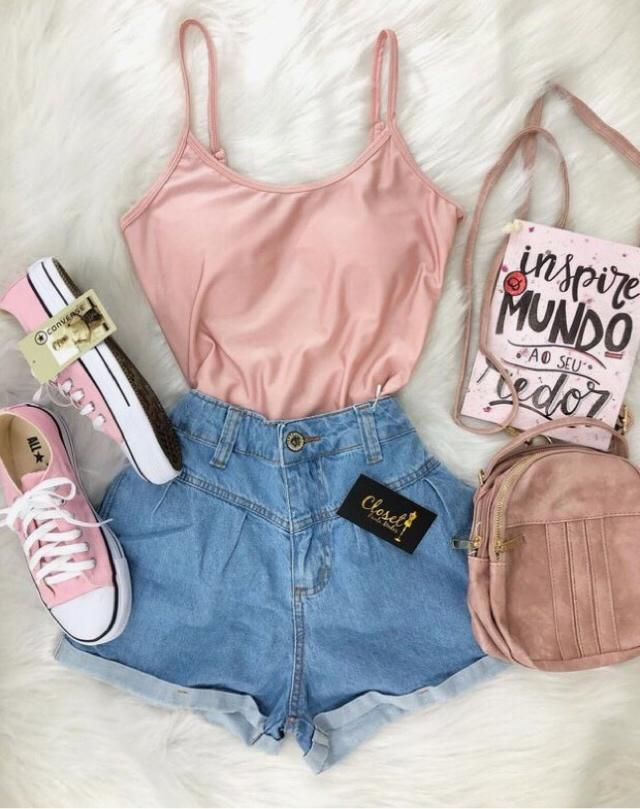 feeling cute and pink. great outfit for summer, cute and sexy