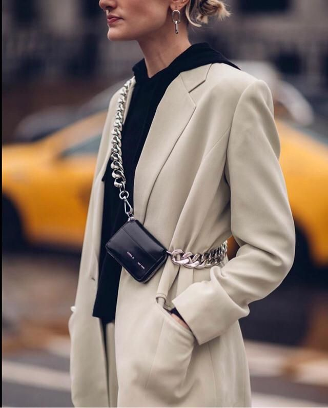 Blazers and chains are the new femme chic