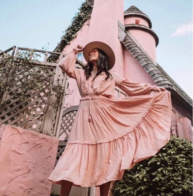 Visiting pink building in pink dress, yay or nay?