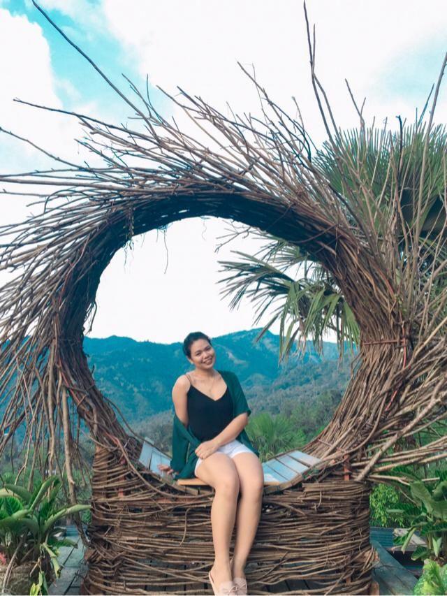 Bali-inspired.
