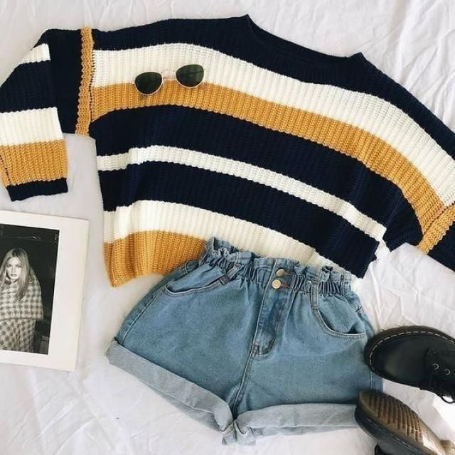 speimg is the perfect time to wear shorts with sweaters .Would you wear that ?Check the items below