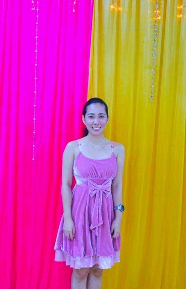 Simple Pink Velvet dress