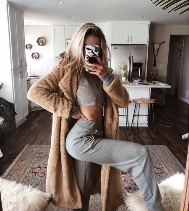 When it's cold, so you just wanna see in super comfortable thick outfit