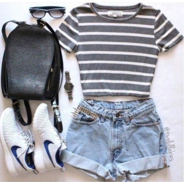 love this casual chic style, so cute and fancy