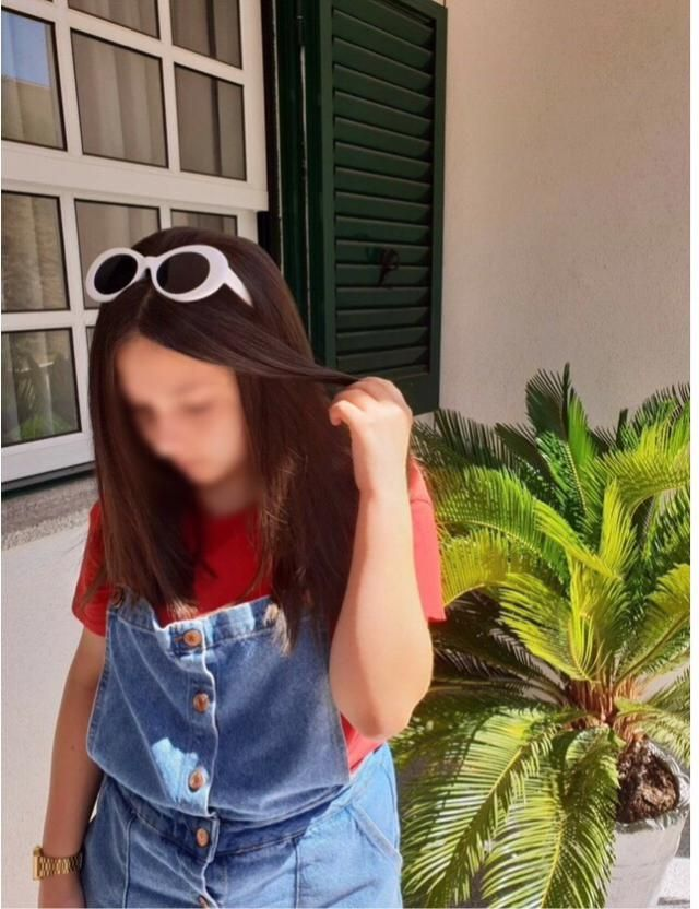 i blurred my face as i am not so comfortable with showing my face just yet. also i took this last summer so my hair is…