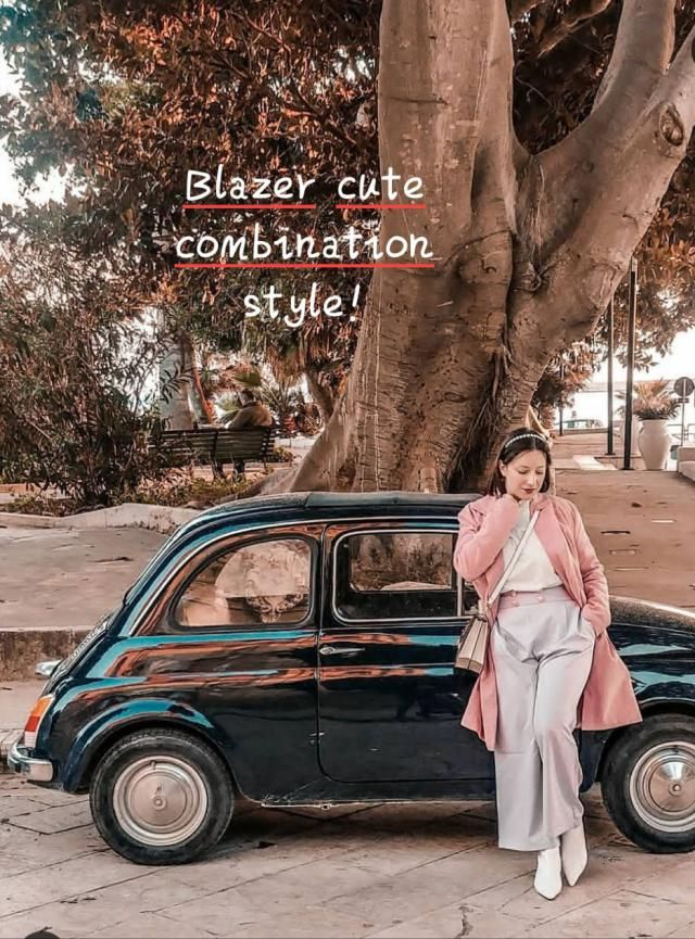 ☆Blazer cute combinations style!☆ ☆Let us look again at the pink coat. Pink coats are, quite clearly, ridiculous. …