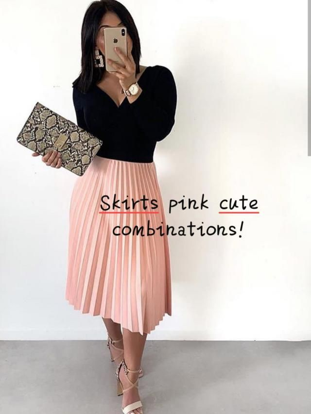 ☆Skirts pink cute combinations!☆ ▪The year 1970 was a year with no predominant look.  Walk a block or so on any bi…