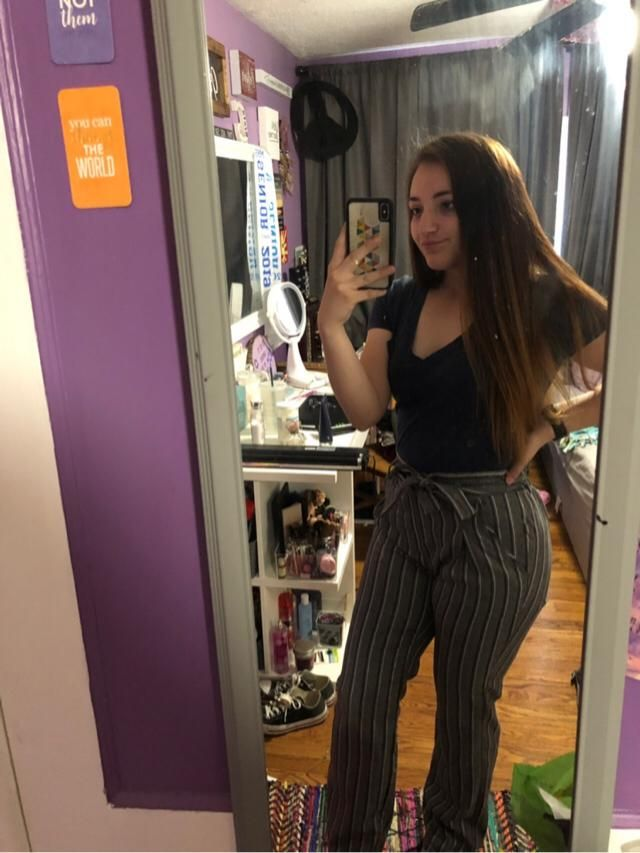 ready for spring with my pinstripe pants!