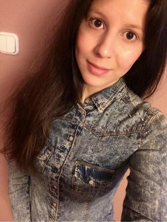 my new denim shirt. it's soo cool. looks great on and fits me just right.