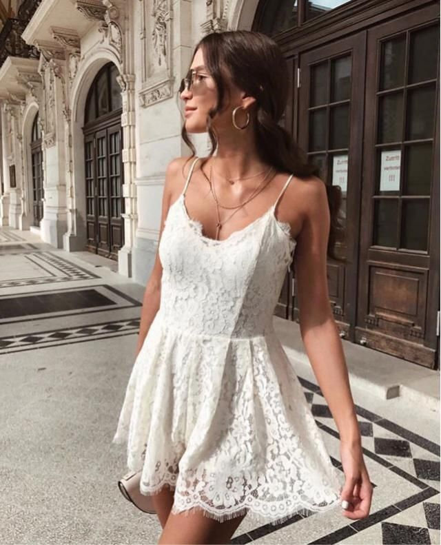 Wearing this cute lace dress for wedding party, it's gorgeous isnt it?